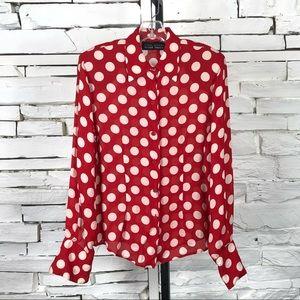 Linda Allard Ellen Tracy Silk Shirt Vintage 1467
